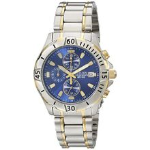 Citizen AN3394-59L Mens Blue Dial Quartz Watch with Stainless Steel Strap