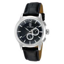 S. Coifman Men's SC0261 Quartz Chronograph Black Dial  Watch