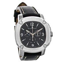 Burberry BBY1100 Mens Britain Octagon Leather Swiss Chronograph Quartz Watch