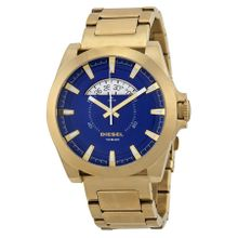 Diesel DZ1663 Mens Blue Dial Analog Quartz Watch with Stainless Steel Strap