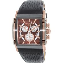 Mulco MW1-29785-125 Mens Brown Dial Analog Quartz Watch with Leather Strap