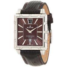 Edox 26022 3 BRIN Womens Brown Dial Quartz Watch with Leather Strap