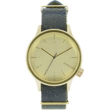 Komono KOM-W1952 Mens Cream Dial Analog Quartz Watch with Leather Strap