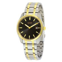 Citizen AU1044-58E Mens Black Dial Analog Watch with Stainless Steel Strap