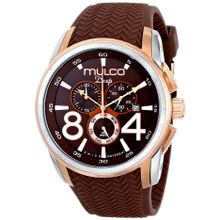 Mulco MW1-29849-033 Mens Brown Dial Quartz Watch with Silicone Strap