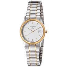 Wittnauer 16b06 Womens White Dial Analog Quartz Watch with Stainless Steel Strap