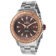 Invicta Pro Diver 17561 Mens Brown Dial Quartz Watch with Stainless Steel Strap