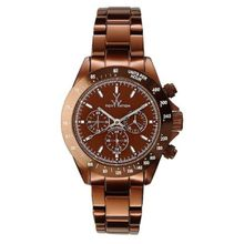 Toy Watch ME12BR Womens Brown Dial Quartz Watch with Stainless Steel Strap
