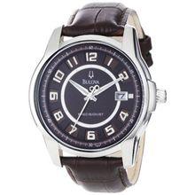 Bulova 96B128 Mens Brown Dial Quartz Watch with Leather Strap