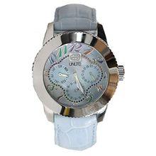 Marc Ecko E11532L3 Womens Blue Dial Analog Quartz Watch with Leather Strap