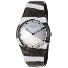 Noon 01-051 Womens White Dial Analog Quartz Watch with Plastic Strap