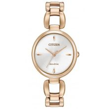 Citizen EM0423-56A Womens Rose Gold Stainless Steel Case Pearl Dial Rose Gold Bracelet Analog Watch