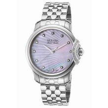 Accuswiss Bellecombe 63R147 Womens Mop Dial Watch with Stainless Steel Strap