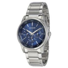 Citizen BU2010-57L Mens Blue Dial Analog Quartz Watch with Stainless Steel Strap