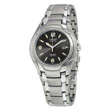 Citizen BM6060-57F Mens Black Dial Analog Quartz with Titanium Strap Watch