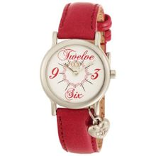 Juicy Couture 1900649 Womens White Dial Analog Quartz Watch with Leather Strap