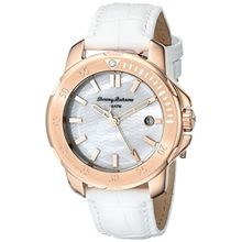 Tommy Bahama 10018300 Womens Mop Dial Analog Quartz Watch with Leather Strap