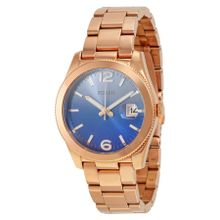 Perfect Boyfriend Blue Gradient Dial Rose Gold Tone Stainless Steel Ladies Watch