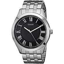Men's Silver Tone Guess Stainless Steel Watch U0476G1
