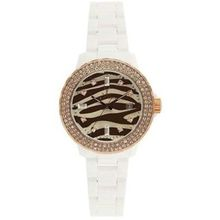 Toy Watch TZ52148-WHRG Womens Brown Dial Quartz Watch with Plasteramic Strap