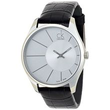 Calvin Klein K0S21120 Watch Deluxe Mens Silver Dial Stainless Steel Case