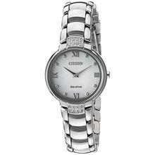Citizen EX1460-55A Womens Silver Case Silver Dial Silver Bracelet Round Analog Watch