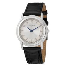 Wittnauer 10A101 Mens Silver Dial Quartz Watch with Leather Strap