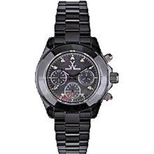 Toy Watch CCS05BK Womens Black Dial Quartz Watch with Ceramic Strap