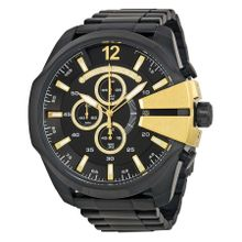 Diesel DZ4338 Mens Black Dial Analog Quartz Watch with Stainless Steel Strap
