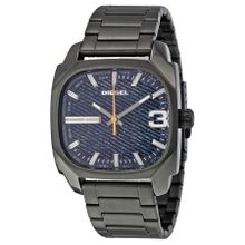 Diesel DZ1693 Mens Blue Dial Analog Quartz Watch with Stainless Steel Strap