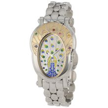 Brillier Women's 18-04 Royal Plume Peacock Inspired Swiss Gemstones Watch