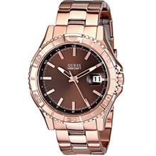 Guess U0244G6 Mens Brown Dial Quartz Watch with Stainless Steel Strap