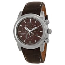 Citizen AT0550-11X Mens Brown Dial Analog Quartz Watch with Leather Strap