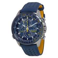 Citizen AT8020-03L Mens Blue Dial Analog Quartz Watch with Leather Strap