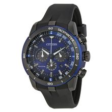 Citizen CA4155-12L Mens Blue Dial Analog Quartz Watch with Polyurethane Strap