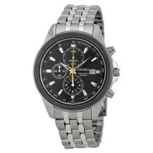 Chronograph Black Dial Stainless Steel Men's Watch