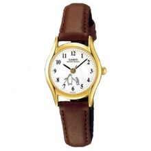 3-Hand Analog Quartz Ladies Watch Genuine Leather Band with Penguin Dial