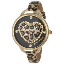 Betsey Johnson BJ00067-14 Womens Black Dial Analog Quartz Watch