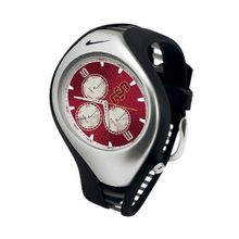 Nike NKTXSC3I Mens Red Dial Quartz Watch with Rubber Strap