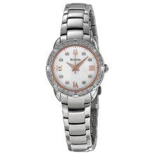 Maribor White Dial Stainless Steel Ladies Watch
