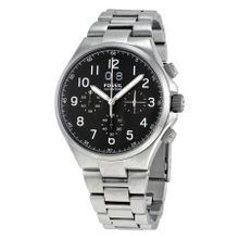 Fossil CH2902 Mens Black Dial Analog Quartz Watch with Stainless Steel Strap