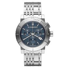 Burberry BU2308 Mens Blue Dial Analog Quartz Watch with Stainless Steel Strap
