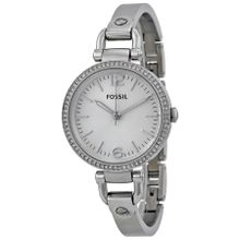 Fossil ES3225 Georgia Womens Silver Dial Analog Quartz Stainless Steel Watch