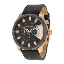 Diesel DZ4347 Mens Black Dial Analog Quartz Watch with Leather Strap