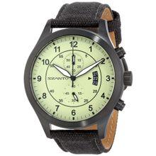Szanto SZ 1204 Mens Green Dial Analog Quartz Watch with Canvas Strap