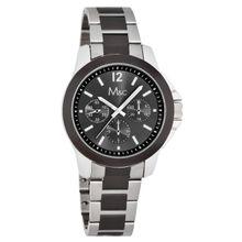 M&C FC0396 Mens Black Dial Analog Quartz Watch with Metal Strap