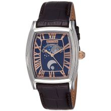 Titan 1661SL01 Mens Blue Dial Analog Quartz Watch with Synthetic Leather Strap