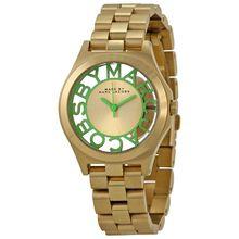 Marc By Marc Jacobs MBM3295 Womens Gold Dial Analog Quartz Watch
