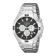 Citizen AN8020-51H Mens Grey Dial Quartz Watch with Stainless Steel Strap