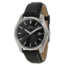 Citizen AU1040-08E Mens Black Dial Analog Quartz with Leather Strap Watch